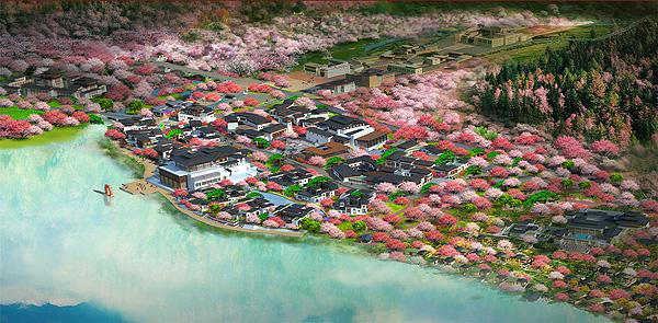 西藏林芝鲁朗小镇中区工程图片