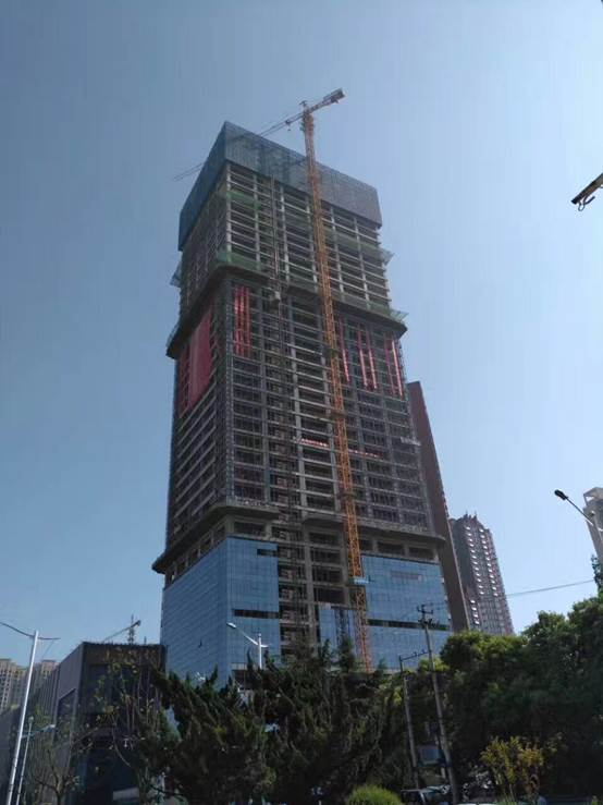 宝利丰广场1#楼顺利通过合肥市优质结构验收